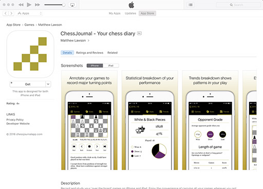 ChessJournal on the iOS App Store